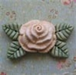 Picture of Large Rose with Leaves - Cream