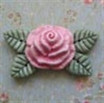 Picture of Large Rose with Leaves - Pink