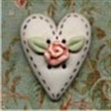 Picture of Stitched Heart Rose
