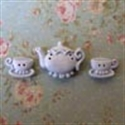 Picture of Teapot & Two Cups Blue
