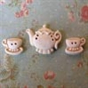Picture of Teapot & Two Cups Cream