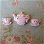 Picture of Teapot & Two Cups Pink