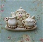 Picture of Rose Tea Set On Tray