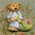 Picture of PJ Bear Green Blanket