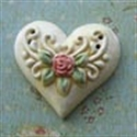 Picture of Intricate Heart White with Gold