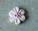 Picture of Little white daisy, Pink centre