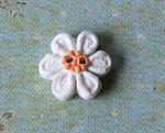 Picture of Little white daisy, Orange centre