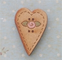 Picture of Wooden Heart with rose