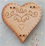 Picture of Wooden Patterned Heart