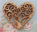 Picture of Wooden Filagree Tree Of Life Heart