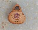 Picture of Wooden Handbag, Purple flower