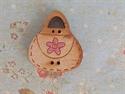 Picture of Wooden Handbag, Pink flower