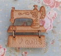 Picture of Wooden Brooch - Quilts